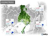 2020年07月05日の兵庫県の実況天気