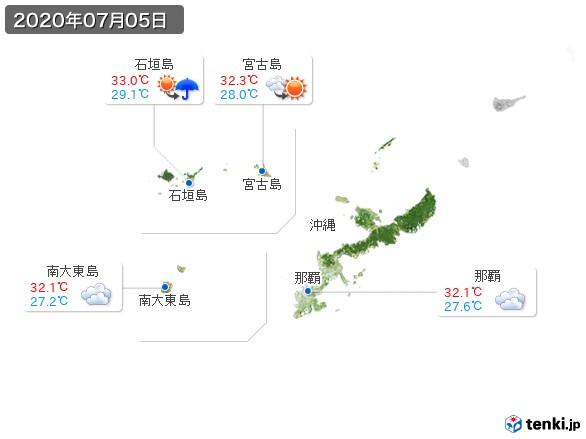 沖縄地方(2020年07月05日の天気