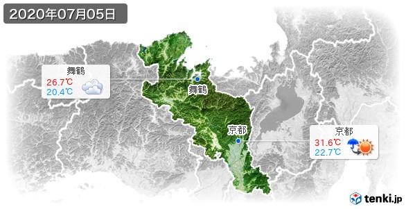 京都府(2020年07月05日の天気