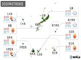2020年07月06日の沖縄県の実況天気