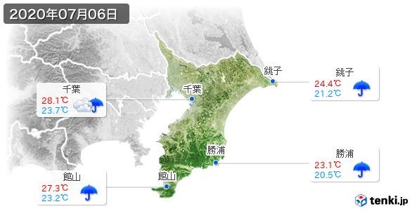 千葉県(2020年07月06日の天気