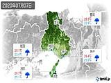 2020年07月07日の兵庫県の実況天気