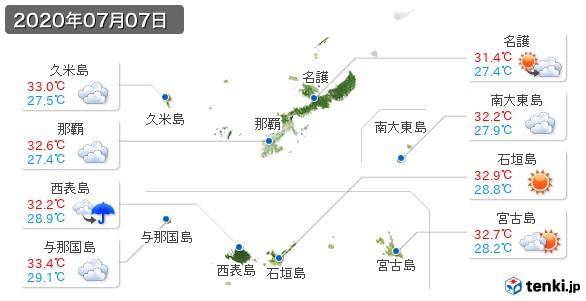 沖縄県(2020年07月07日の天気