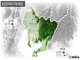 2020年07月08日の愛知県の実況天気