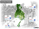 2020年07月08日の兵庫県の実況天気