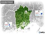 2020年07月08日の岡山県の実況天気
