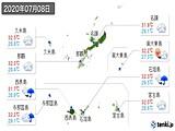 2020年07月08日の沖縄県の実況天気