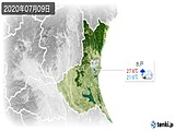 2020年07月09日の茨城県の実況天気