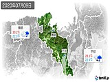 2020年07月09日の京都府の実況天気