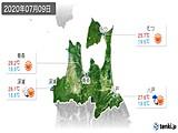 2020年07月09日の青森県の実況天気