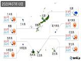 2020年07月10日の沖縄県の実況天気