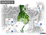 2020年07月11日の兵庫県の実況天気