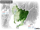 2020年07月12日の愛知県の実況天気