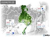 2020年07月12日の兵庫県の実況天気