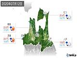 2020年07月12日の青森県の実況天気