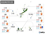 2020年07月12日の沖縄県の実況天気