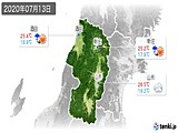 2020年07月13日の山形県の実況天気