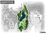 2020年07月14日の滋賀県の実況天気