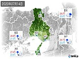 2020年07月14日の兵庫県の実況天気