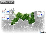 2020年07月14日の鳥取県の実況天気