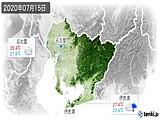 2020年07月15日の愛知県の実況天気