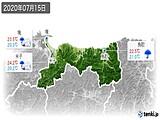 2020年07月15日の鳥取県の実況天気