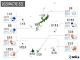2020年07月15日の沖縄県の実況天気