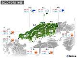 2020年07月16日の中国地方の実況天気