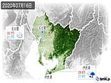 2020年07月16日の愛知県の実況天気