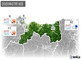 2020年07月16日の鳥取県の実況天気