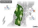 2020年07月16日の山形県の実況天気