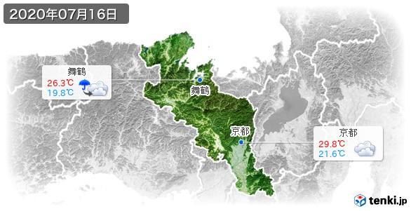 京都府(2020年07月16日の天気