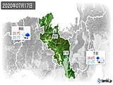 2020年07月17日の京都府の実況天気