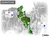 2020年07月18日の京都府の実況天気