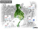 2020年07月18日の兵庫県の実況天気