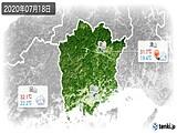 2020年07月18日の岡山県の実況天気