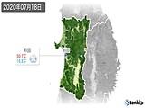 2020年07月18日の秋田県の実況天気