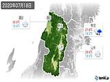 2020年07月18日の山形県の実況天気