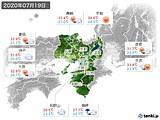 2020年07月19日の近畿地方の実況天気