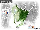 2020年07月19日の愛知県の実況天気