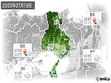2020年07月19日の兵庫県の実況天気