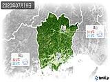 2020年07月19日の岡山県の実況天気