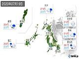 2020年07月19日の長崎県の実況天気