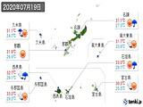 2020年07月19日の沖縄県の実況天気