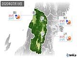 2020年07月19日の山形県の実況天気
