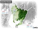 2020年07月20日の愛知県の実況天気