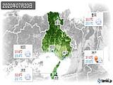 2020年07月20日の兵庫県の実況天気