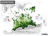 2020年07月20日の香川県の実況天気