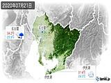 2020年07月21日の愛知県の実況天気
