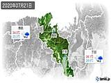 2020年07月21日の京都府の実況天気